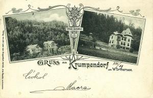 Villen Schoeller Gruß aus Krumpendorf 1900