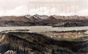 Wörthersee-Panorama vom Pirkerkogl aus 1900