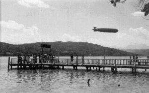 Zeppelin über dem Wörthersee 1931