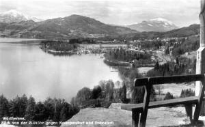 Zillhöhe mit Blick auf Krumpendorf 1930er